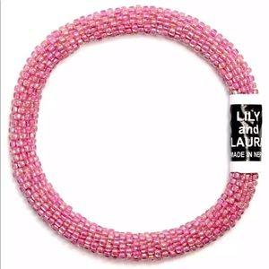NWT Lily & Laura Rainbow Bubblegum Bracelet